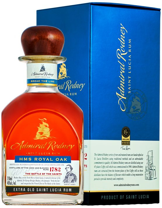 Admiral Rodney ROYAL OAK 40% 700ml box - SPIRITS OF FRANCE